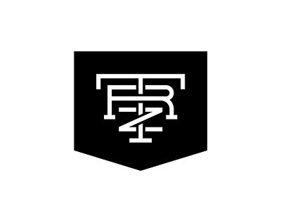 TRZ Monogram logo music band shield crest letters monogram trz