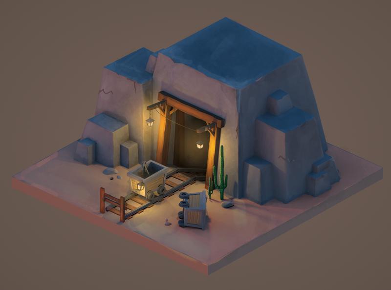 Isometric mine