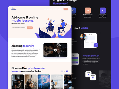 Homemuse redesign redesign musician schedule guitar piano instrument student teacher music homemuse