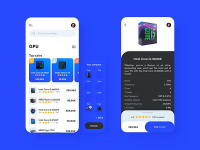 PC shop exploration shop pc app design