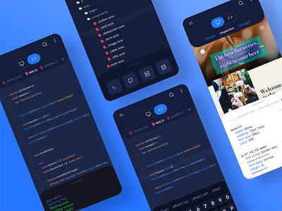 Mobile IDE concept design ide app code ux ui