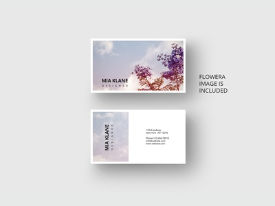 Purple tree business card template by agatacreate dribbble purple tree business card template colourmoves