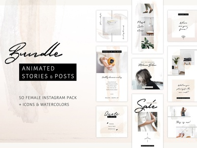 -60% BUNDLE: Animated Posts & Stories