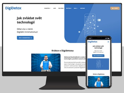 New website for DigiDetox.me wordpress digidetox czech site uiux web design website design ux ui web webdesign redesign