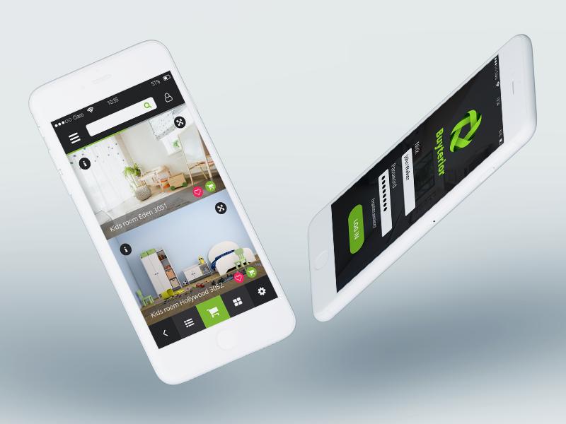Design of app mockup buy interior buy green graphic app interior design of app ui design