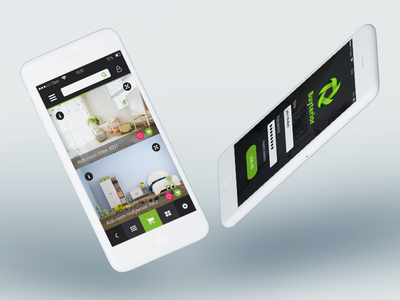 Design of app mockup buy interior buy green graphic app interior design of app ui design