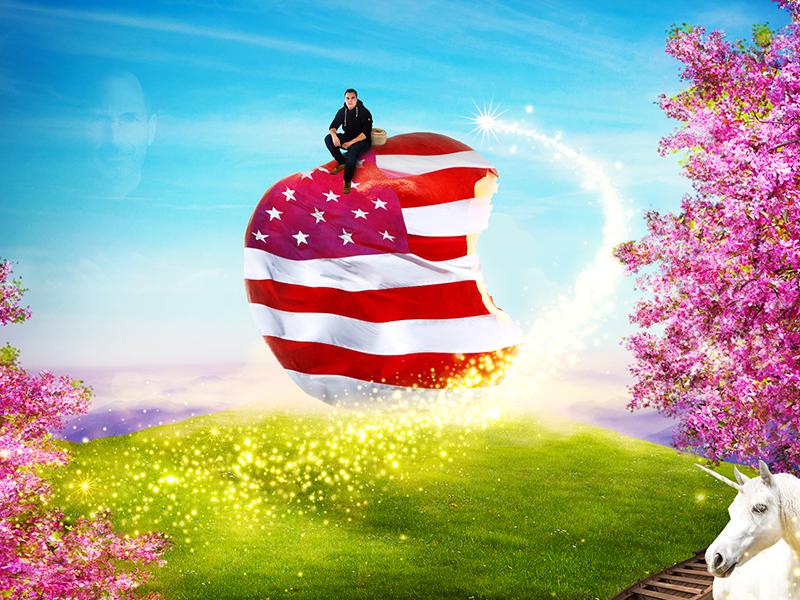 My American Dream effects photoshop photomontage design dream apple inc jobs american usa apple
