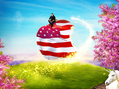 My American Dream effects photoshop photomontage design dream apple inc jobs american usa apple