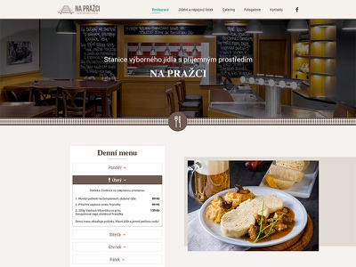 "Webdesign of restaurant ""Na Pražci"" catering restaurant web website web design design web design ui ux ui design design of website webdesign"