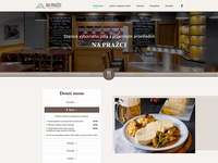 "Webdesign of restaurant ""Na Pražci"""