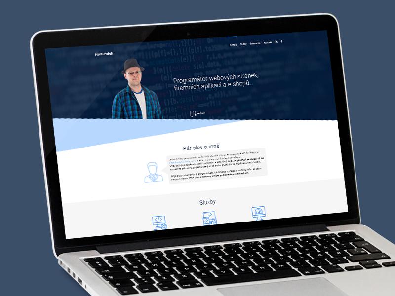 Webdesign, PHP deveoleper's website php developer developer php uiux web design web website homepage design ux ui webdesign