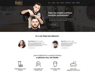 Hairdresser's homepage of web hairdresser webdesign hairdresser web hair hairdresser uiux web design web ux ui design webdesign website