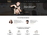 Hairdresser's homepage of web
