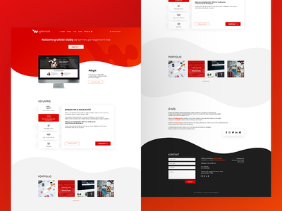 Webkomplet Design Landing Page minimal ui design clean interface design one page web website uiux ui design landing page