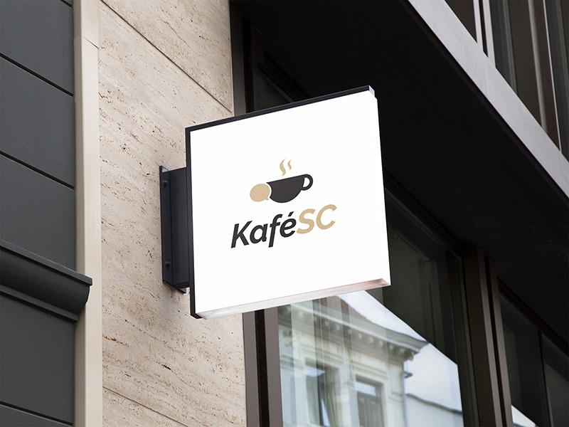 """Logo of café """"KaféSC"""" coffee visual logo design design logo cafe kafesc"""