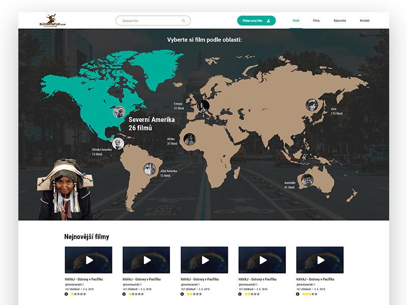 Redesign of website Bushmanfilm.comm design uiux video ui video website portal video portal video web design webdesign ui design ui movie film