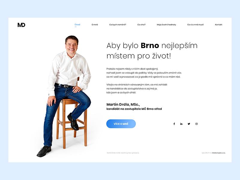 Political Webdesign - drdla.eu political webdesign political website simple martin drdla ux ui web design webdesign politician political
