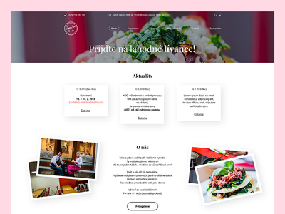 Redesign of web, Bistro & Bar wine pancakes website fastfood bar design bistro design bar drink food bistro uiux ux ui ui design design web design webdesign web