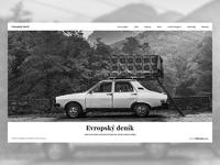 Web design european diary