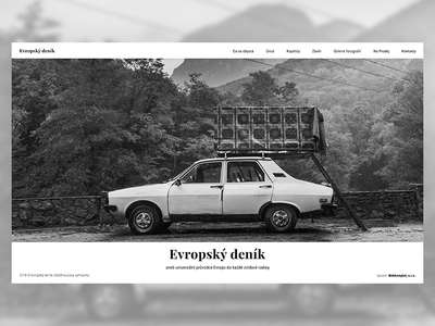 Web Design European Diary štěpán hon štěpán hon photographer czech bw black and white user interface design website web design design web webdesign uxui ui ux diary europe evropský deník european diary