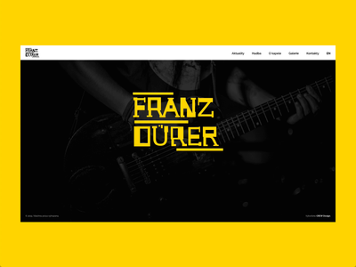 Design of microsite for music band web design of microsite ui web design webdesign design microsite ui band music