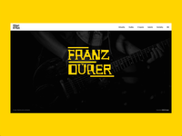 Design of microsite for music band