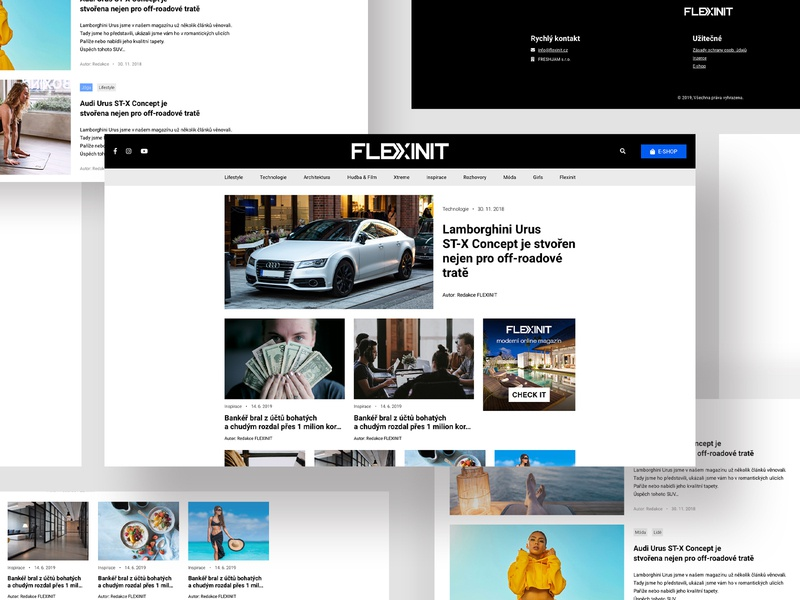 Online magazine FLEXINIT czech online post design site webdesign website uiux ui design post blog design blog flexinit magazine design magazine