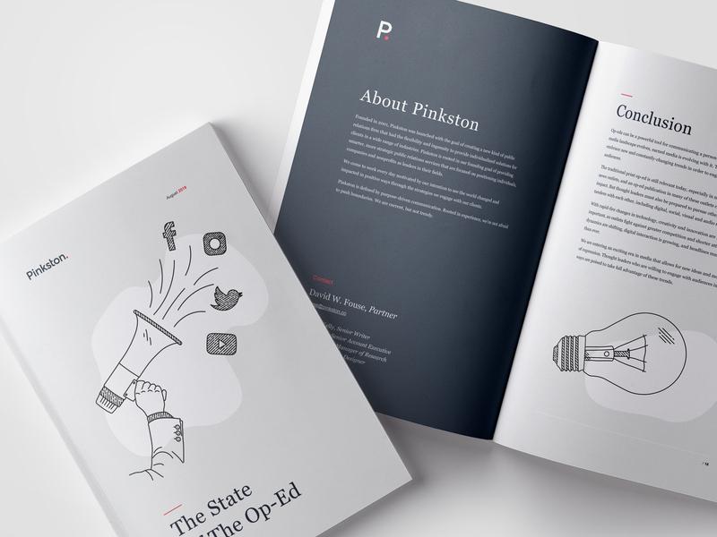 Pinkston State of the Op-Ed Brochure Design graphic cover pinkston typogaphy layout print logo design brochure brochure design branding booklet