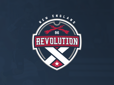 New England Revolution 2 soccer crest logo new england revolution new england revolution mls design concept designer graphic graphic designer