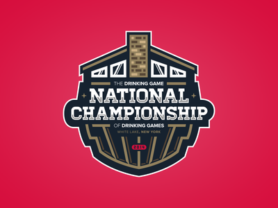 The Drinking Game National Championship championship logo official imagery pete schwadel