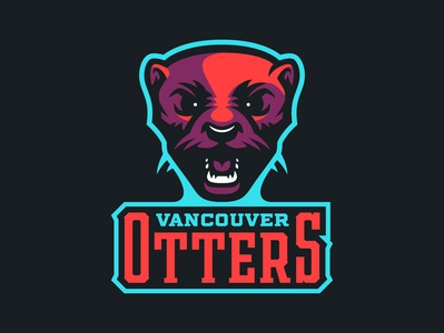 Vancouver Otters Branding Concept vancouver otters hockey crest branding concept sports designer logo