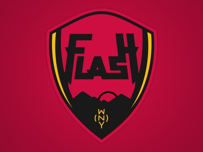 Western New York Flash 2 wps western new york flash branding crest soccer logo logo design designer football flash new york concept concepts sports womens pro soccer