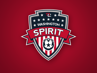 Washington Spirit Crest wps washington dc fc branding crest soccer logo logo design designer football concept concepts sports womens pro soccer nwsl