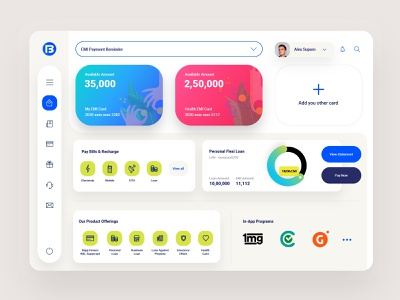 Dashboard - Fintech finance app brand user experience user inteface webdesign website design web dashboard ux uiux ui modern design dashboard ui application app design website flat design clean cards ui bold design