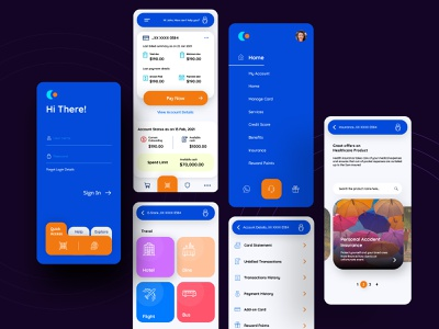 Credit Card Manager flatdesign fintech dashboard ui bold design user interface banking mobile app ux uiux ui cards ui interface card finance balance credit loan debit wallet