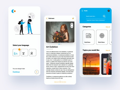 News App ux ui clean ui-ux product design user experience typoraphy news blog podcast blog app news app newsletter minimal mobile app app ui ux uiux light theme modern video