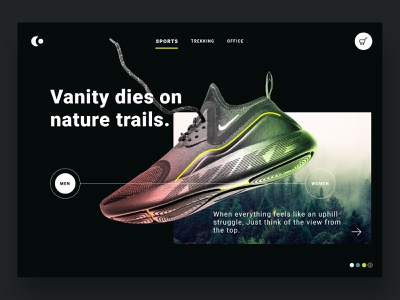 Shoe Brand - Web Banner website web web design motion landing page sport shoes fashion store ecommerce shop nike photo product flat design user experience app design clean uiux ux