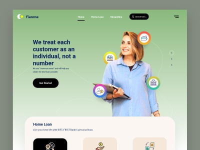 Home Page - Finance loan app banking app banking website landingpage bankingapp product page hero section fintech financial website finance online banking loan website fintech website fintech landing loan home loan landing banking neobank landing