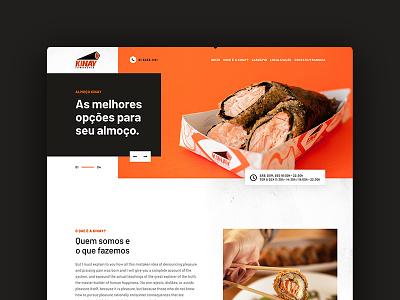 Institutional website orange website uiux food