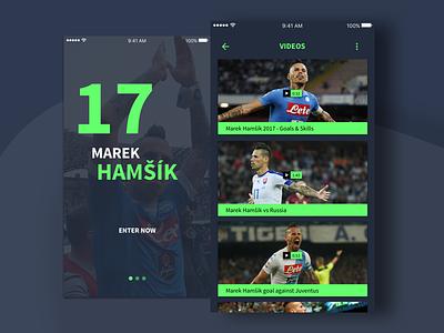 Marek Hamšík - Mobile App hamsik soccer app mobile napoli football