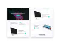 Mockups | Landing Page - Data Analytics