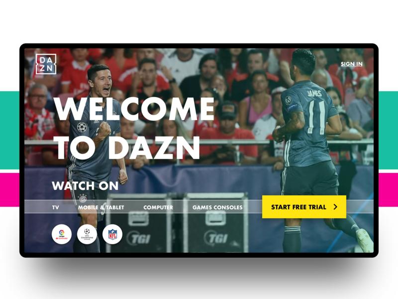 Dazn Sport Streaming | Landing by Ale on Dribbble
