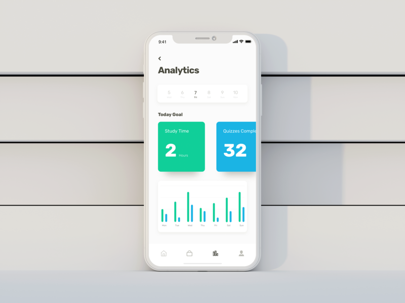 Learning App - Analytics Screen by Ale on Dribbble