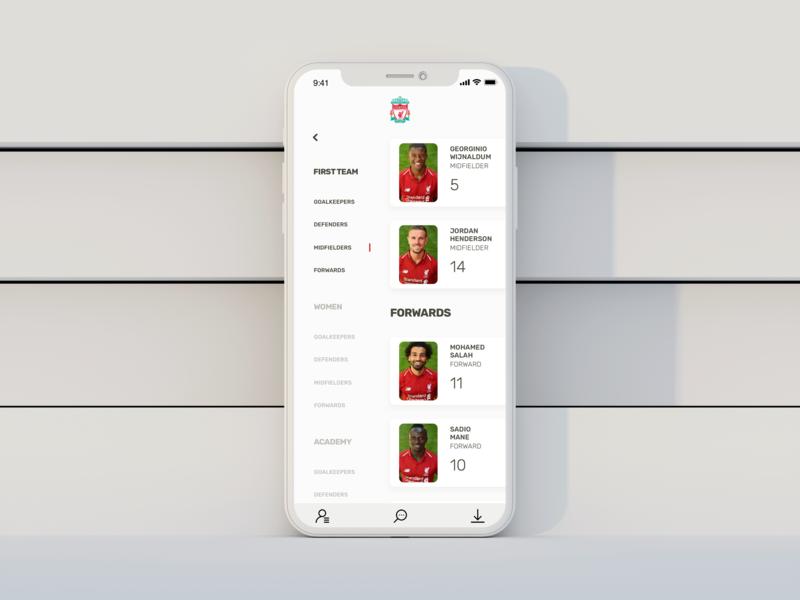 Liverpool App liverpool football app ux ui uxdesign uidesign