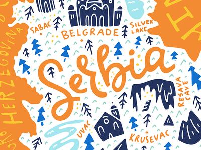 Cartoon map of Serbia by Olga Zakharova Dribbble