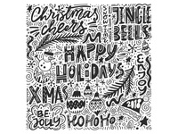 Happy Holidays Freehand