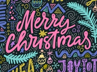 Christmas Freehand Lettering