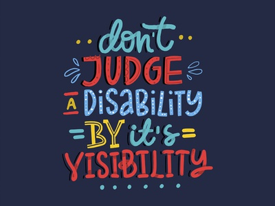 Don't Judge Disability