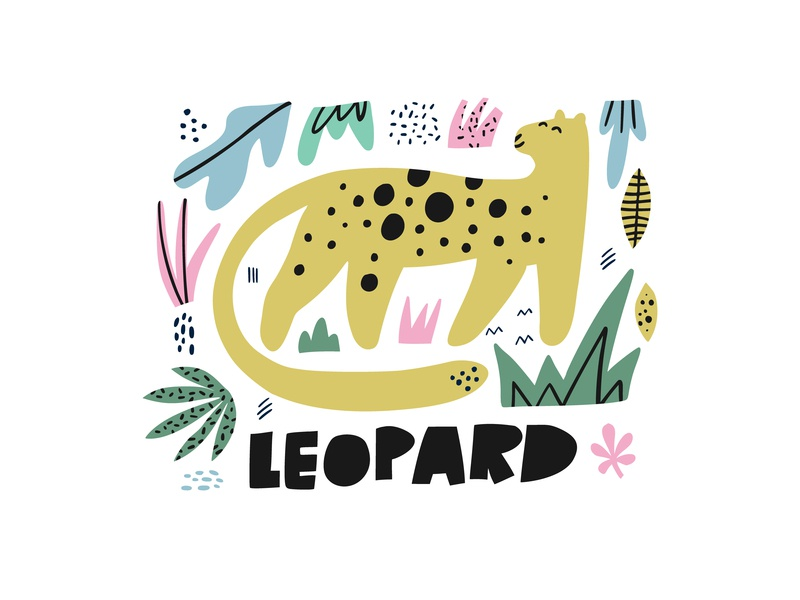 Leopard design cartoon concept handdrawn drawing hand drawn illustration africa leopard kids illustration kids books animal