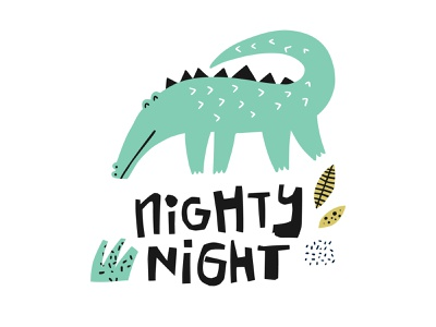 Crocodile children kids animal crocodile african concept cartoon doodle drawing typography hand drawn lettering illustration